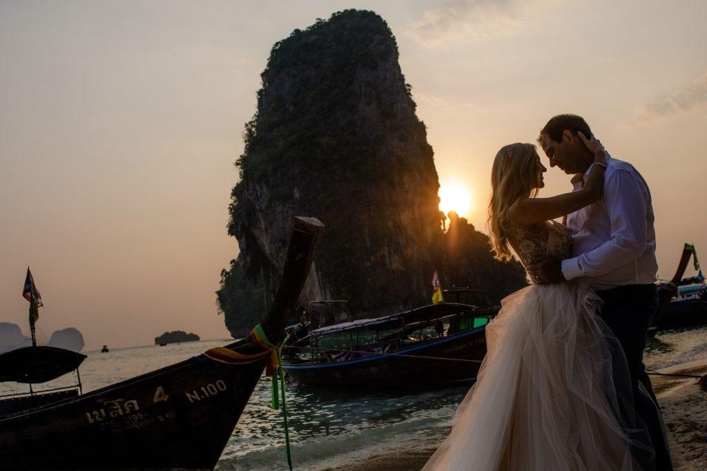 Rayavadee wedding photo in Railay Thailand